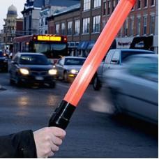 Işıklı Jop Trafik Batonu Kırmızı Pilli